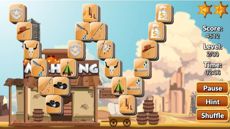 Wild West Mahjong full screen