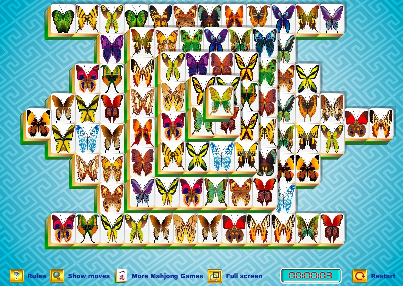 Butterfly Mahjong - New Version of the Game full screen