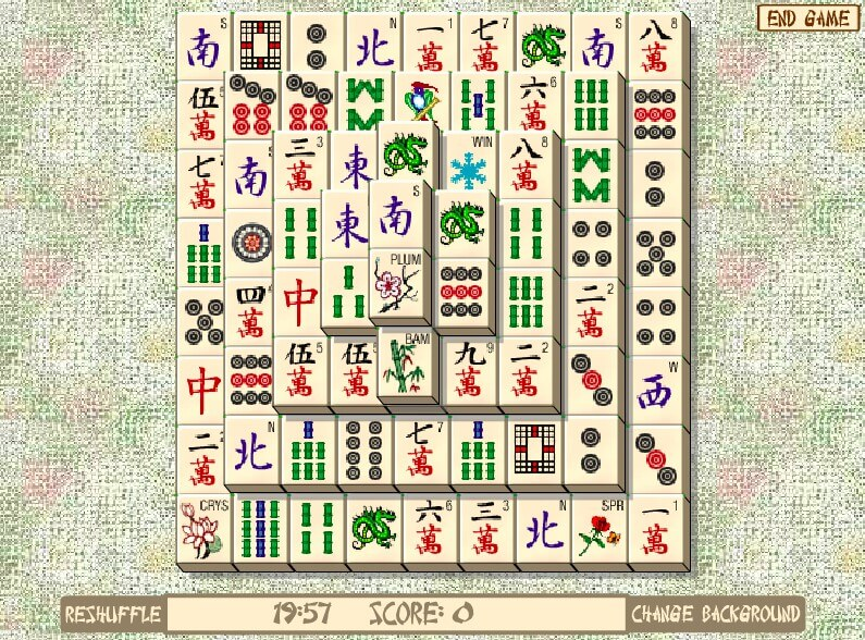 Free Mahjong for computer full screen