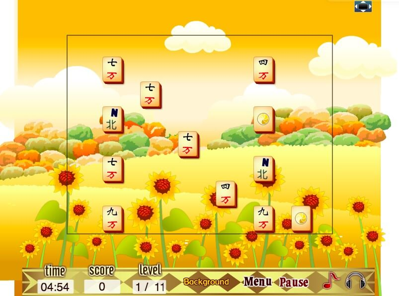 Golden Autumn Mahjong full screen