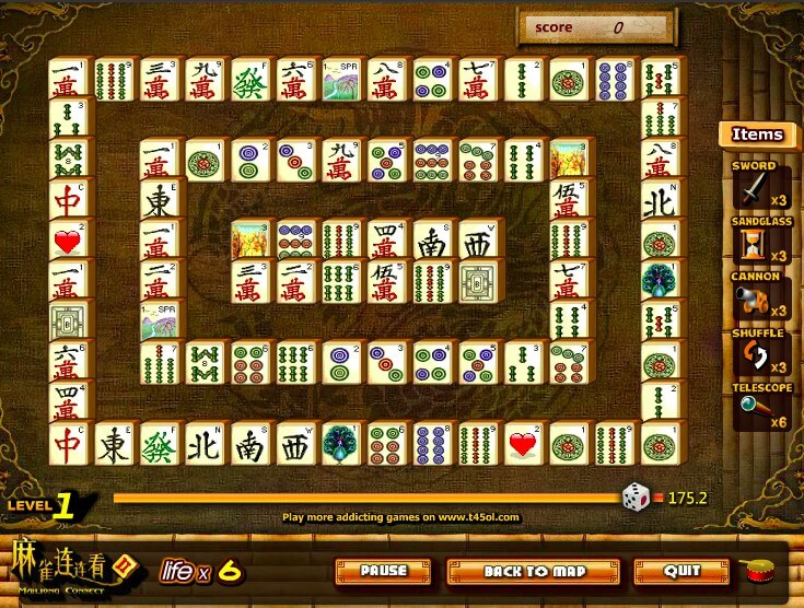 Mahjong Connect 2 online full screen