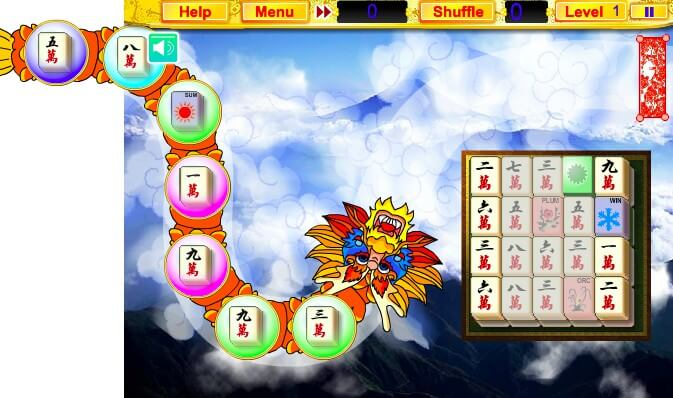 Mahjong Dragon 3 full screen