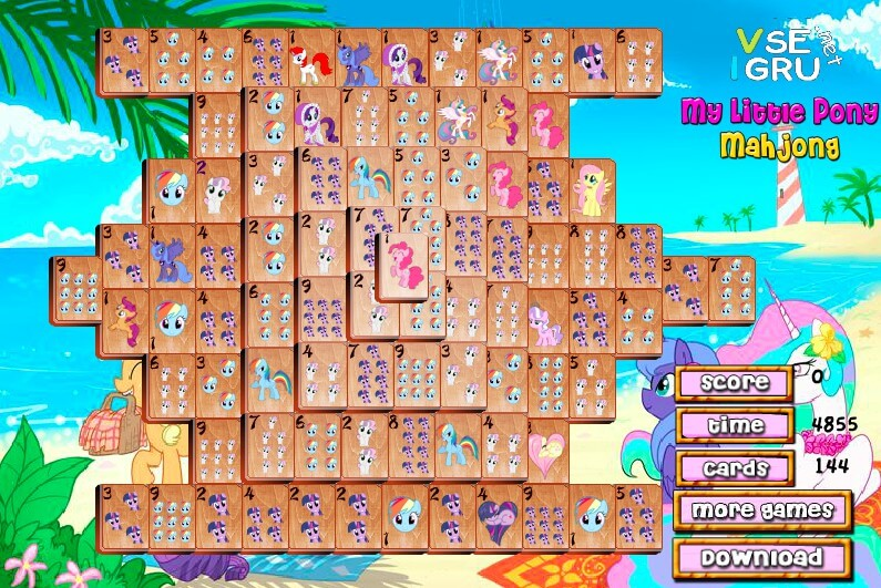Mahjong Pony full screen