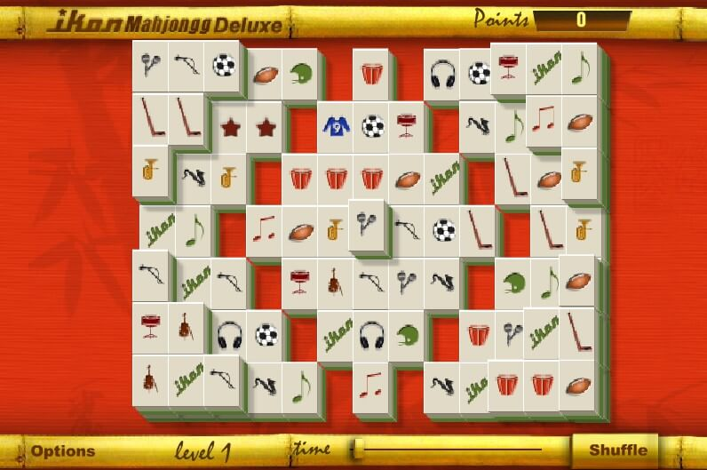 Ikon Mahjongg Deluxe full screen