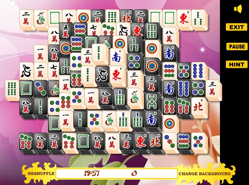 Mahjong Black and White full screen