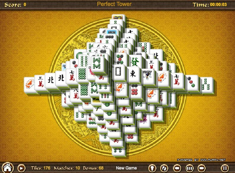Mahjong Tower full screen