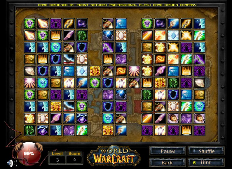 Mahjong Warcraft /World of Warcraft full screen