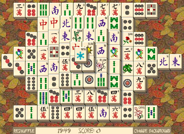 Solitaire Mahjong full screen