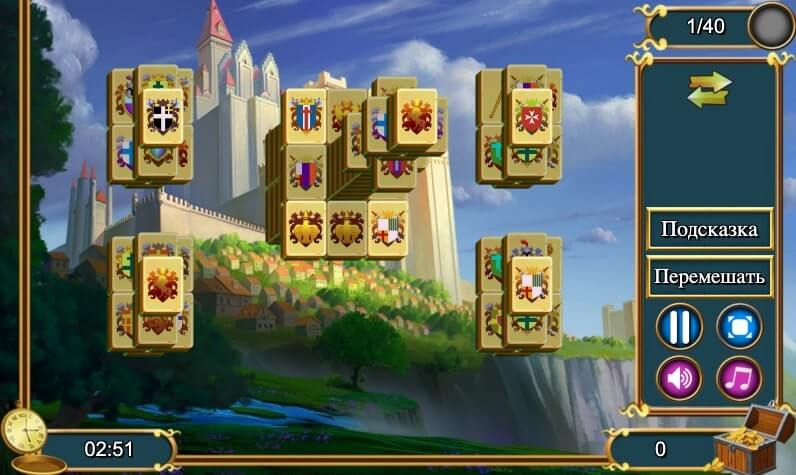 Royal Tower Mahjong full screen