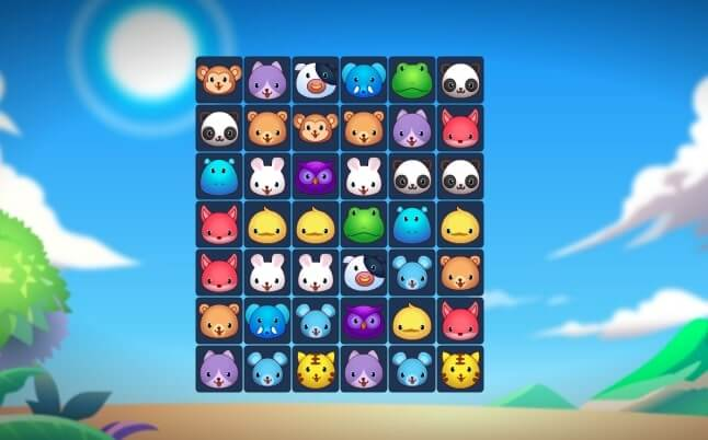 Animals Connect 3 full screen