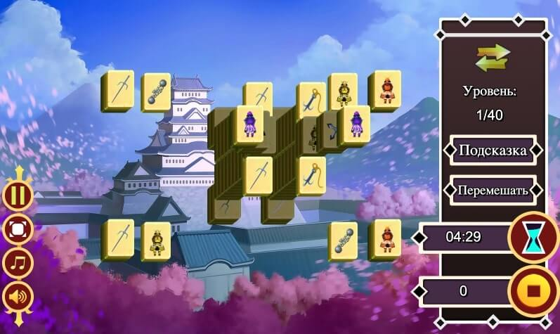Japan Castle Mahjong full screen