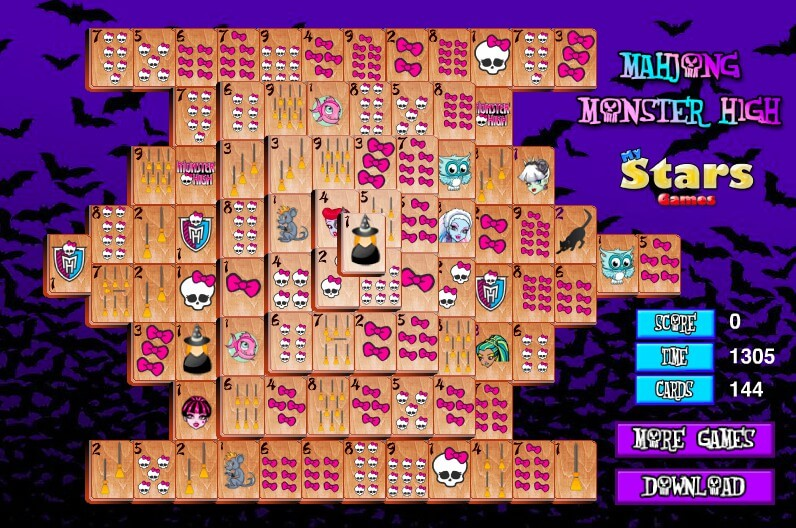 Mahjong Monster High full screen